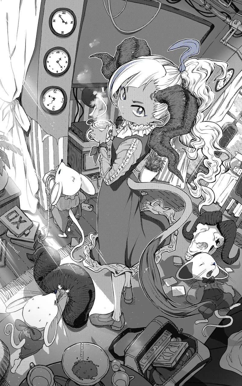 1頭の牛と数匹のネズミ。 Illust of EUDETENIS January2021_Contest:OC ラット コーヒー EUDETENIS 牛