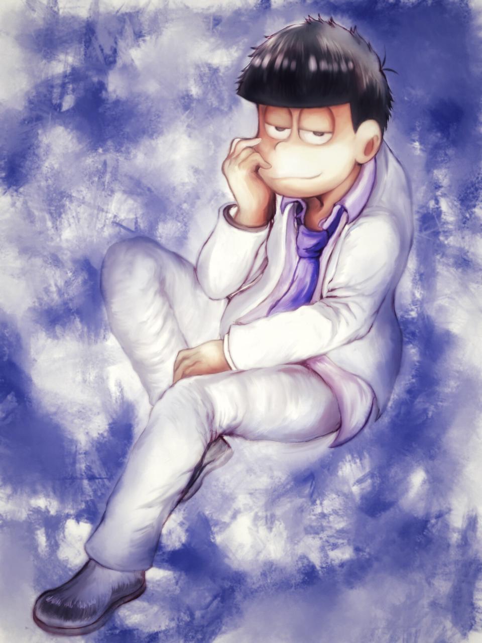 白スーツ一松