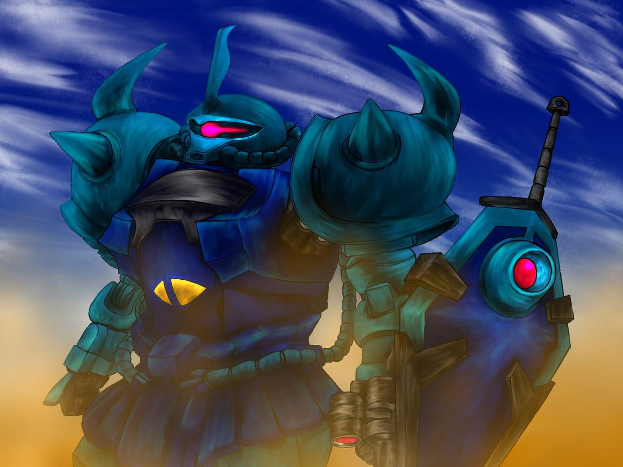 グフカスタム Illust of 猫ミミ兵 GUNDAM メカ ロボット