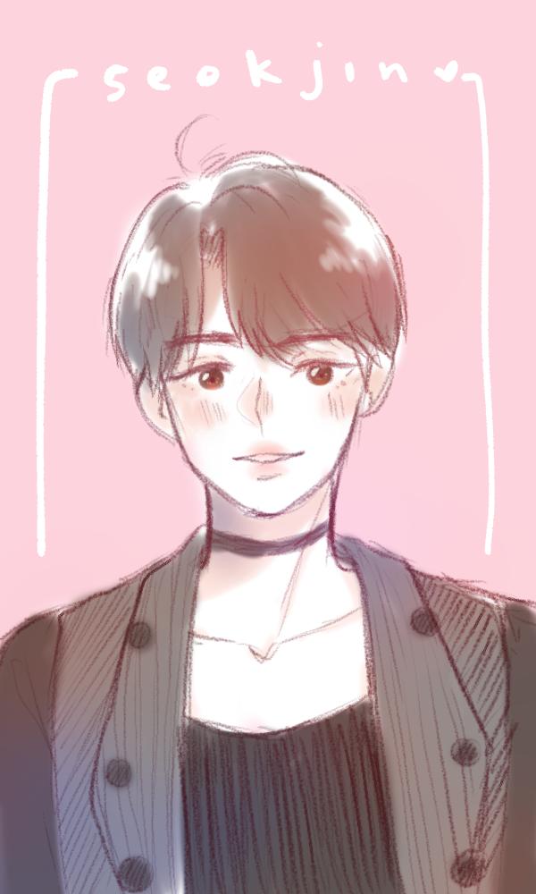 kim seokjin Illust of krisppie medibangpaint anime doodle Seokjin kawaii cute sketch Kimseokjin BTS