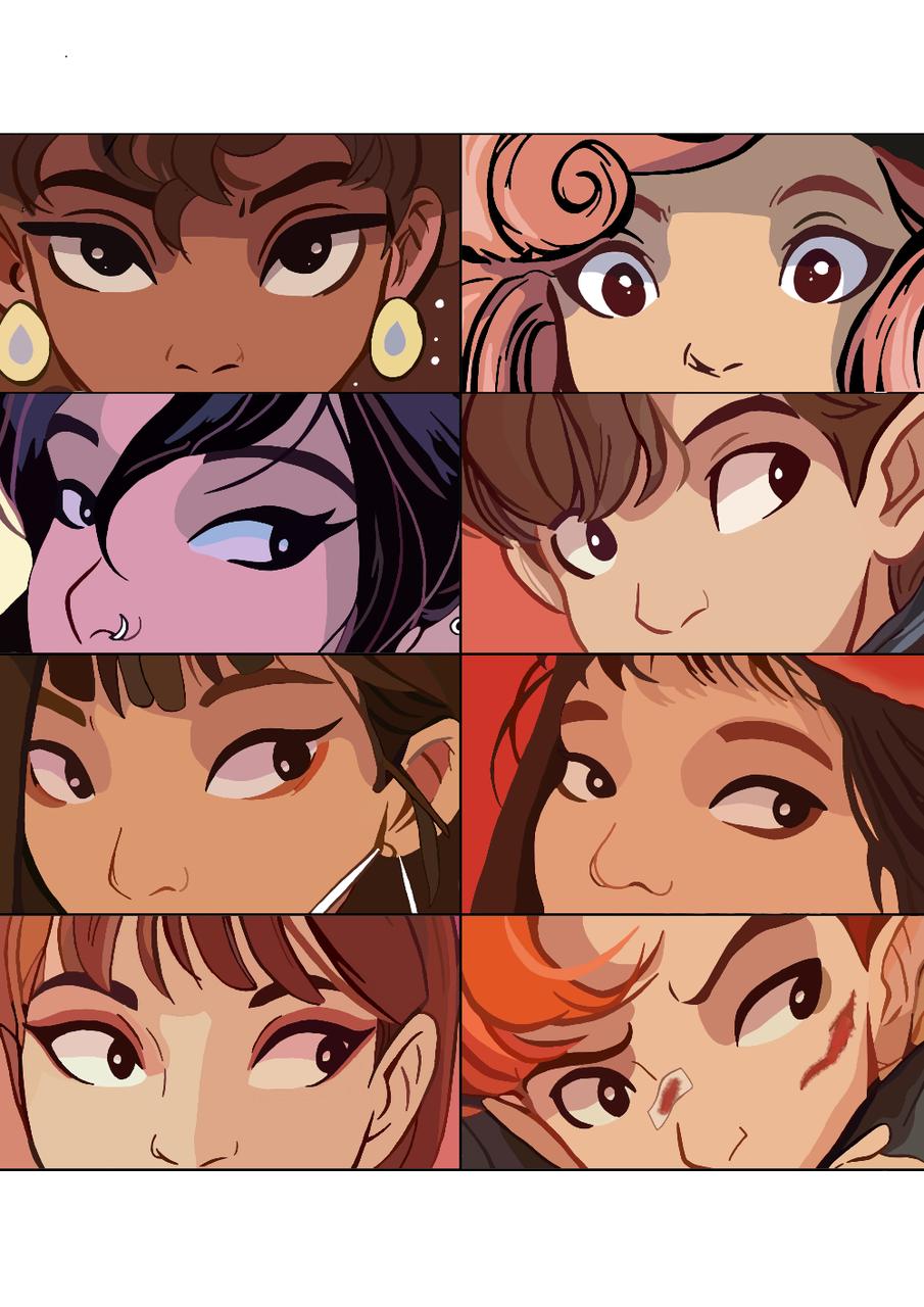 Looking through your eyes Illust of Retro-Neverland medibangpaint drawing animation cartoon art face eyes