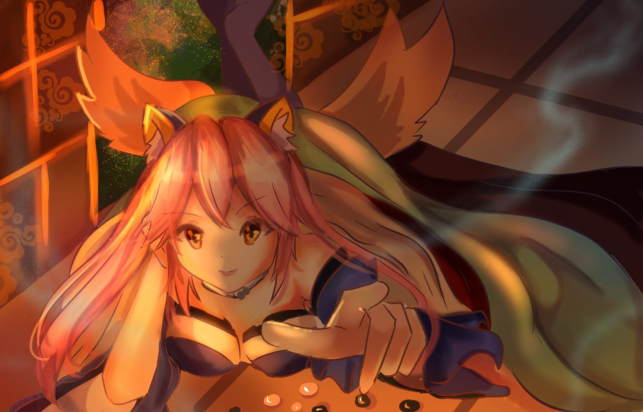 Tamamo No Mae [ FGO ] 玉藻の前 Illust of Manami🌸🌙 animegirl anime tamamonomae Fate/GrandOrder artist fgofanart tamamo
