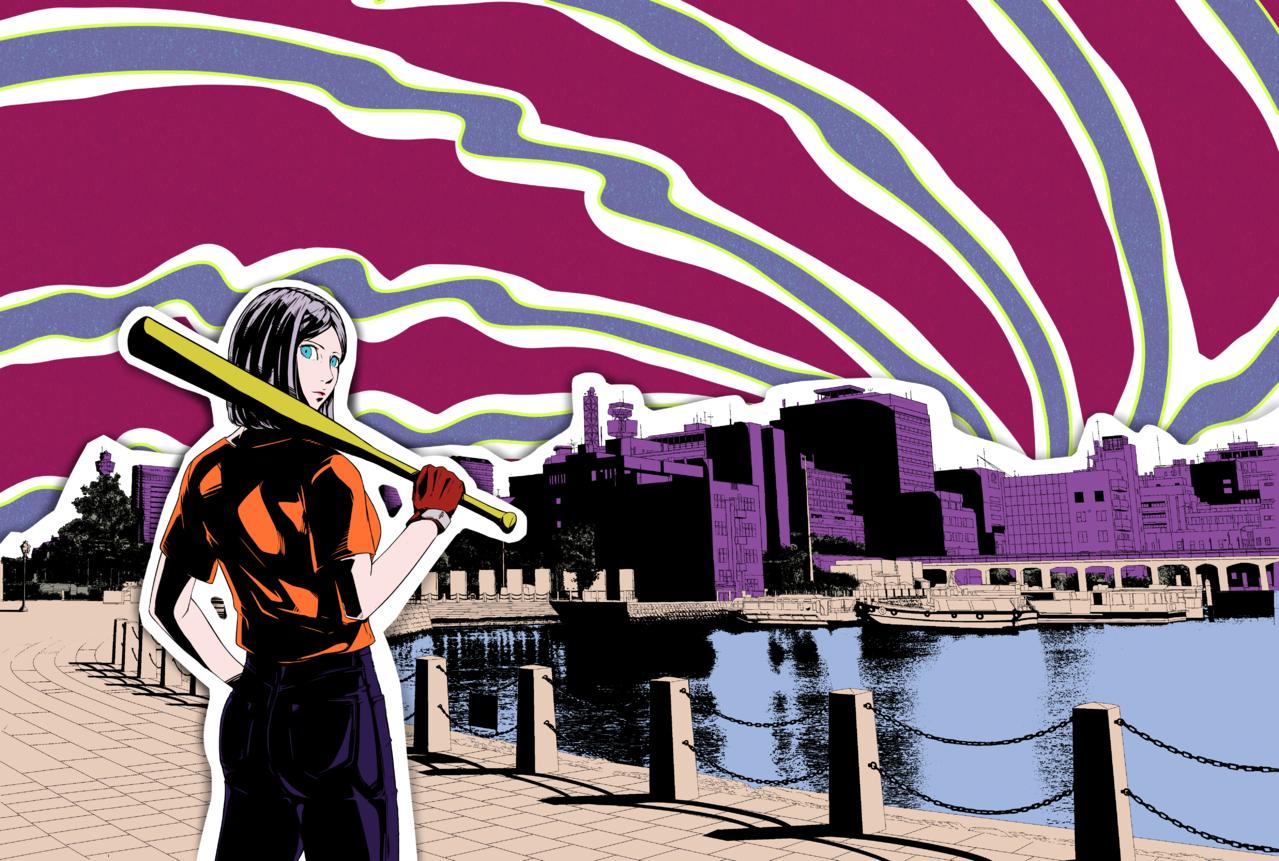 M Illust of 100 BackgroundImageContest_Using_Division Background_Image_Contest girl