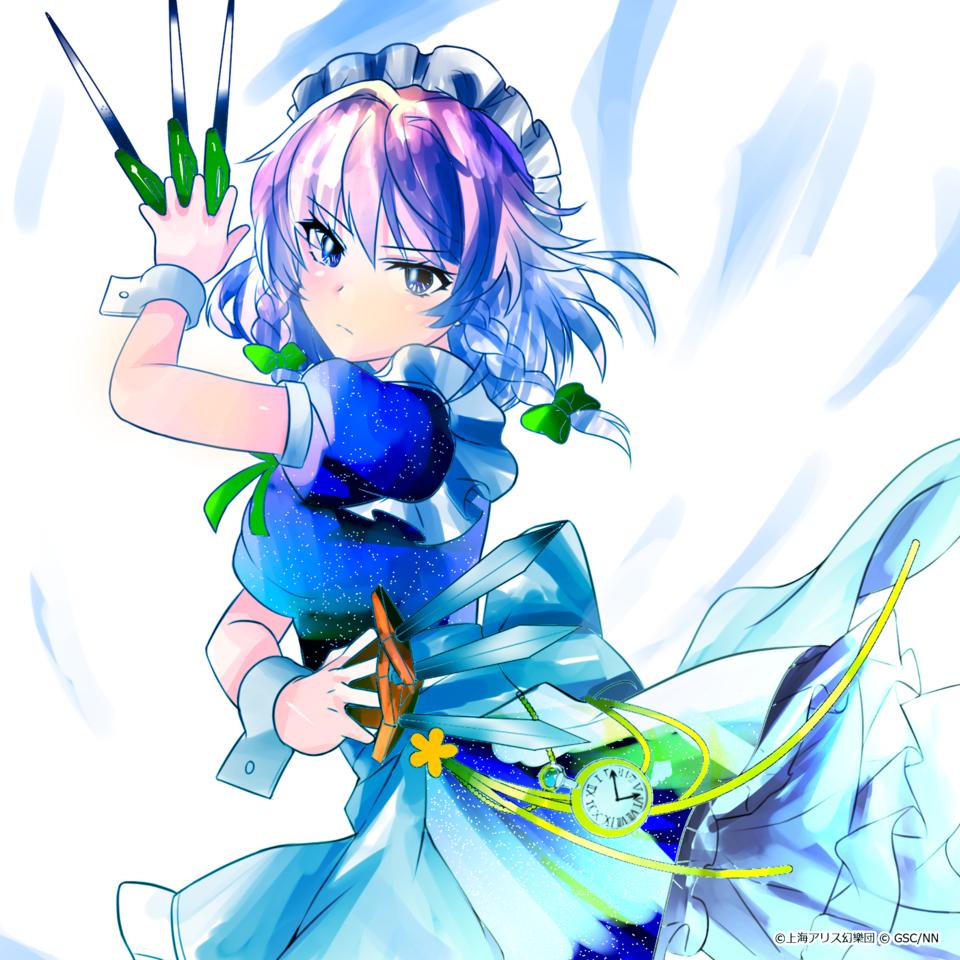 塗りマス Illust of お茶湯 Touhou_Project girl 東方紅魔郷 十六夜咲夜 第十六回塗りマス