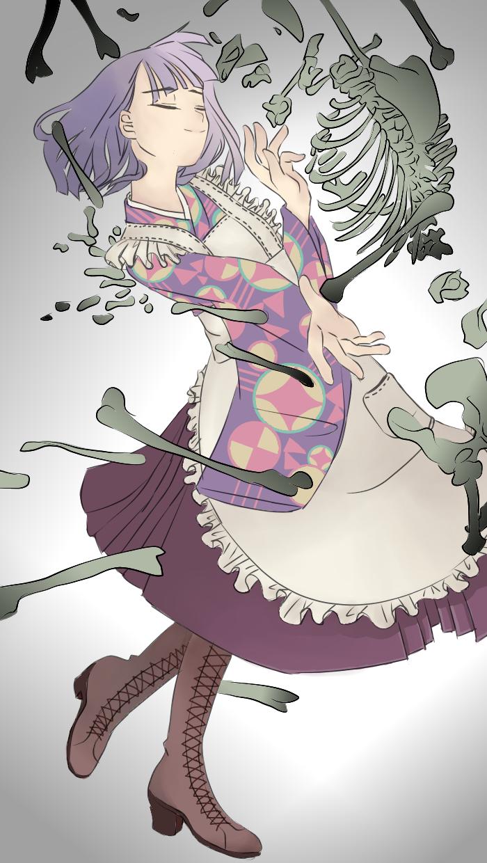 【乙女解剖】 Illust of 水无濑 medibangpaint VOCALOID kimono girl 乙女解剖