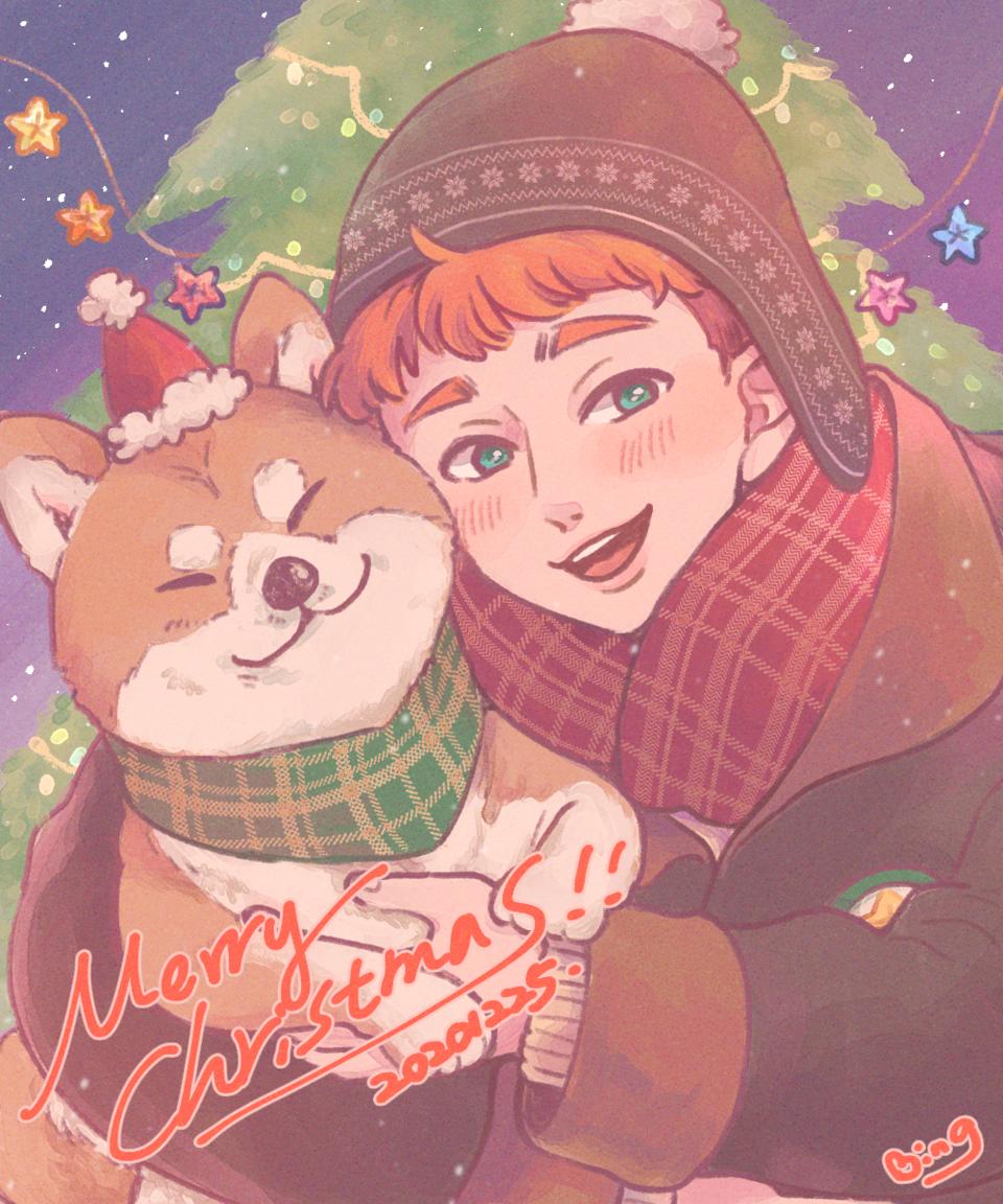 柴聖誕 Illust of DanBing December2020_Contest:Santa ShibaInu original Christmas