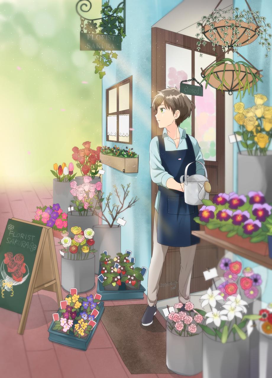 花の君 Illust of 名取そじ April2021_Flower boy oc