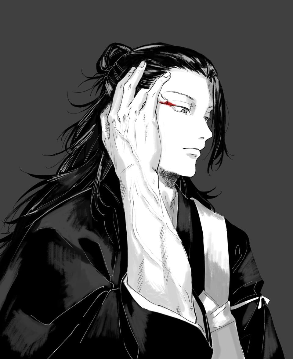 赤 Illust of 薬味の浅葱 JujutsuKaisenFanartContest JujutsuKaisen 呪術廻戦ファンアート 夏油傑