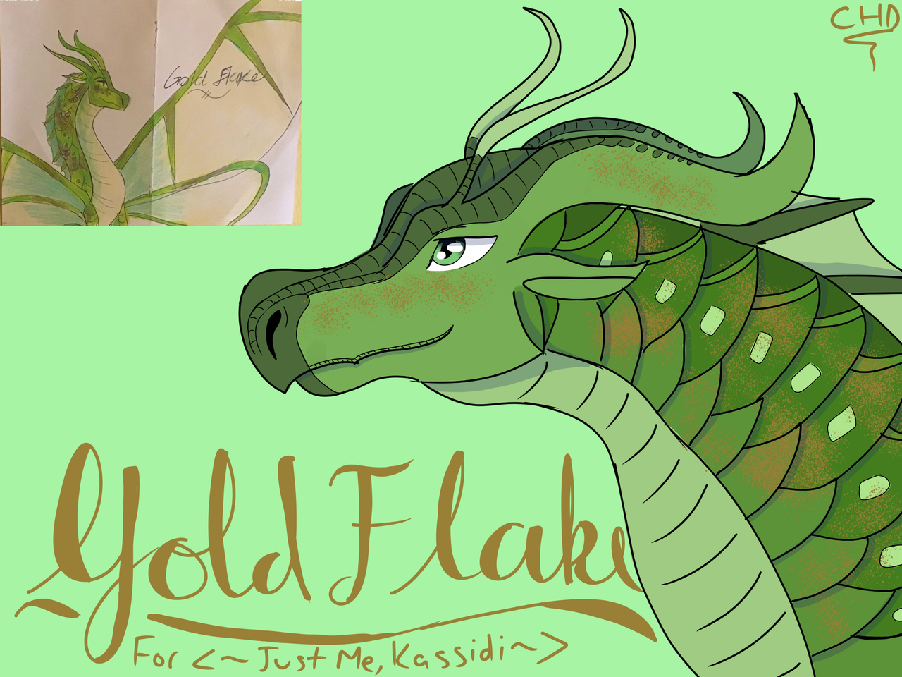 Gold Flake — Redraw for <~Just Me, Kassidi~>