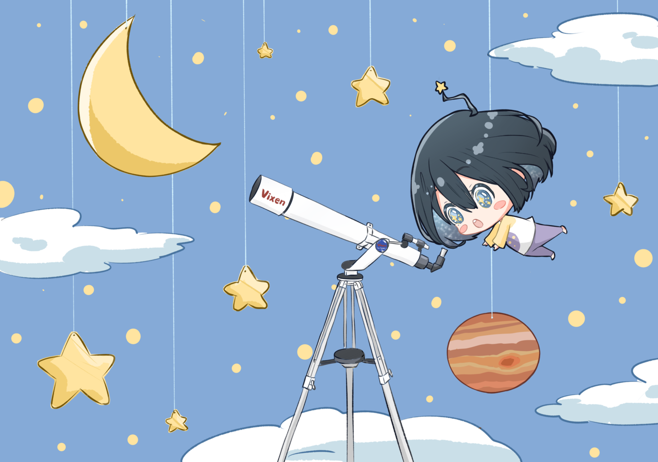 Closer to the stars!!! ⭐️ Illust of グー giftyouwant2020 giftyouwant2020:50000YenGift