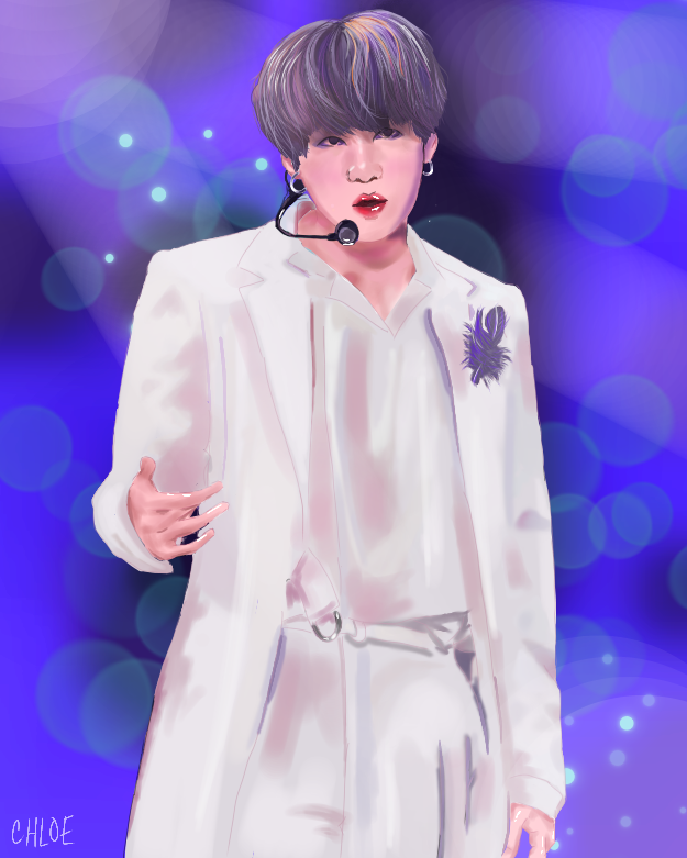 its yoongi!  Illust of ☆°•chloe•°☆ medibangpaint anime SUGA realistic cute BTS