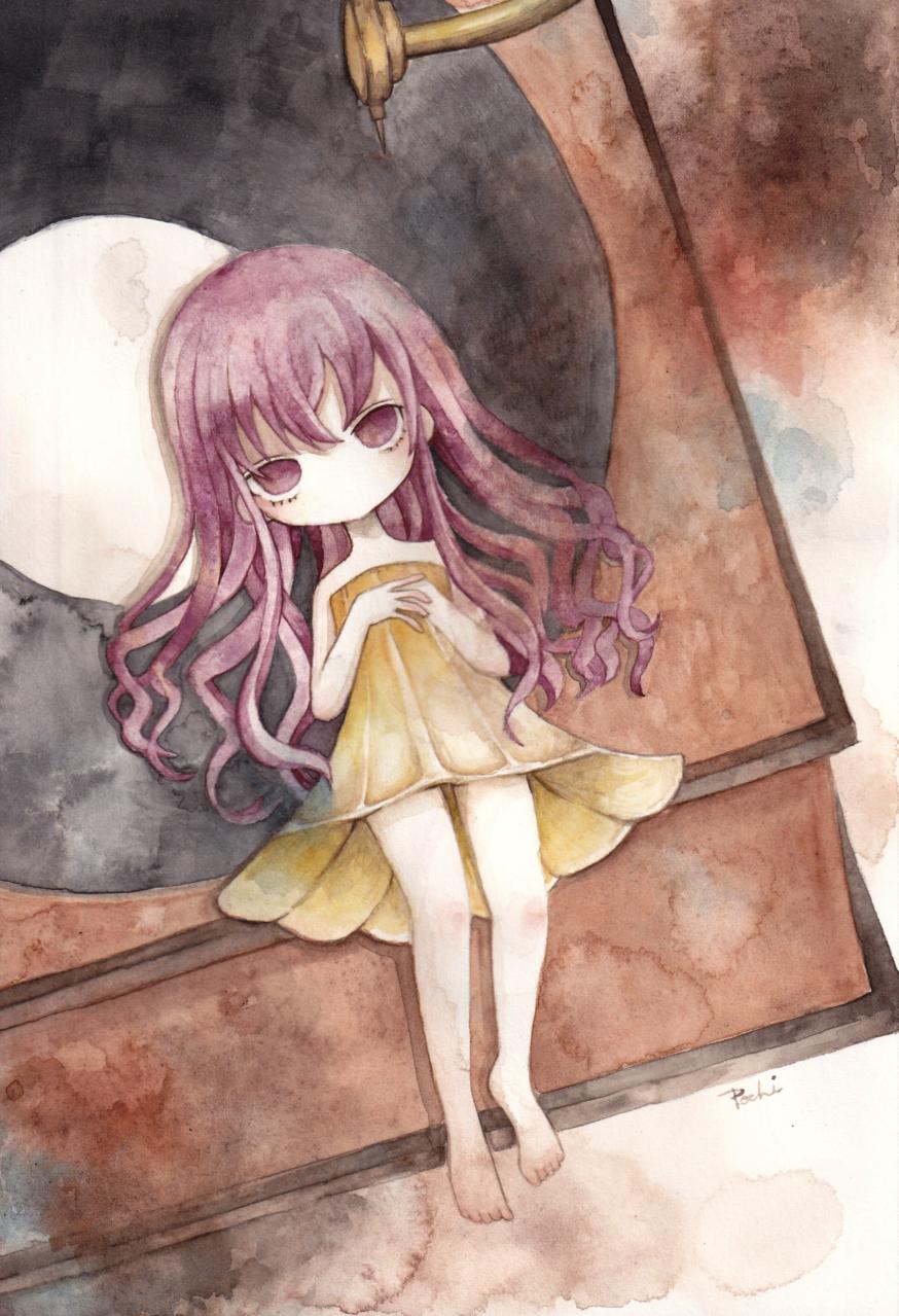 針を待つ Illust of ぱぴぷぺ ぽち pinkhair レトロ 蓄音機 透明水彩