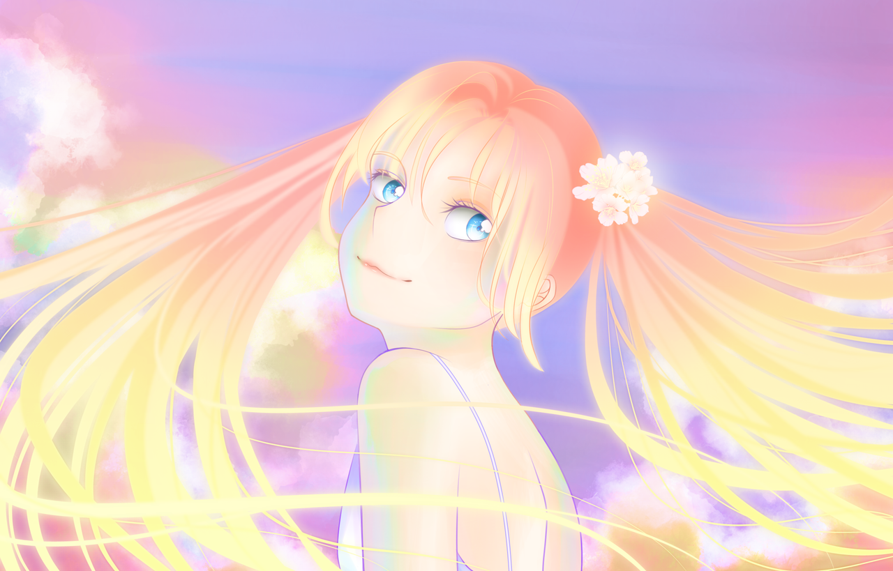 Cherry Illust of VioletHoshimi medibangpaint girl original pinkhair animegirl oc pastel