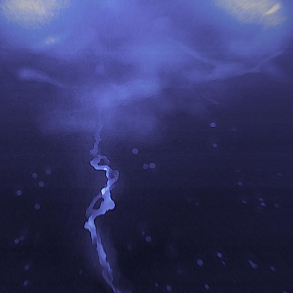 lightning⚡ Illust of ✧・゚:* Fresh *:・゚✧ blue lightning
