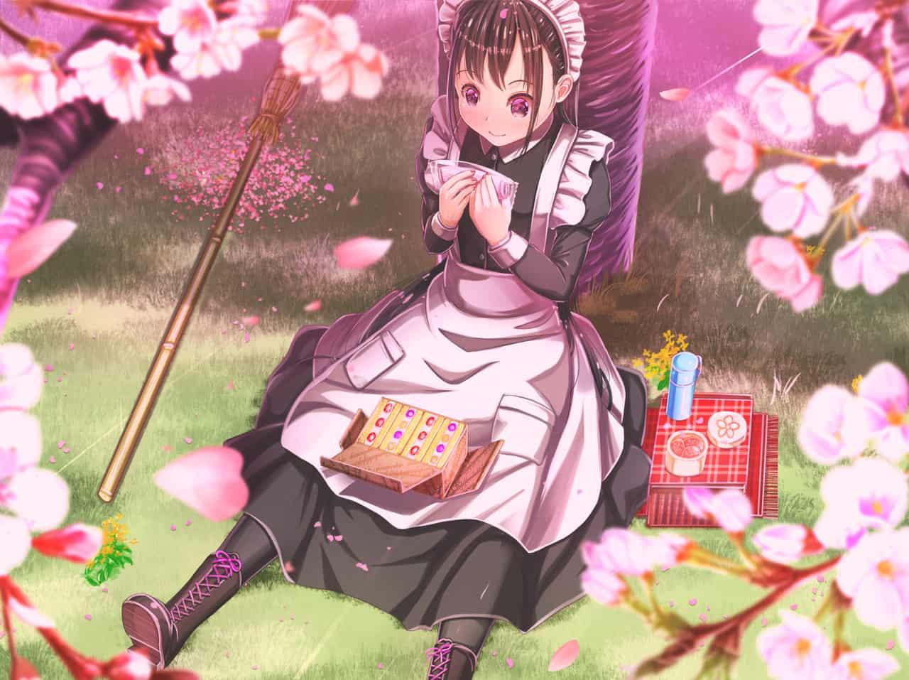 桜掃除 Illust of あいうあぼ メイド服 sakura 春