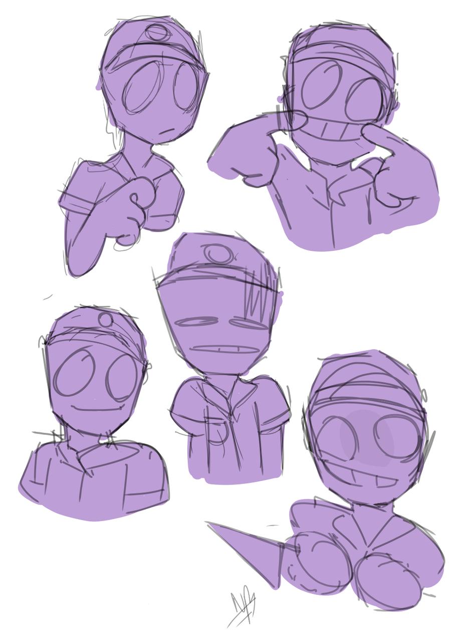 purple guy 💜 Illust of >♡♥️Ňaømï♥️♡< medibangpaint
