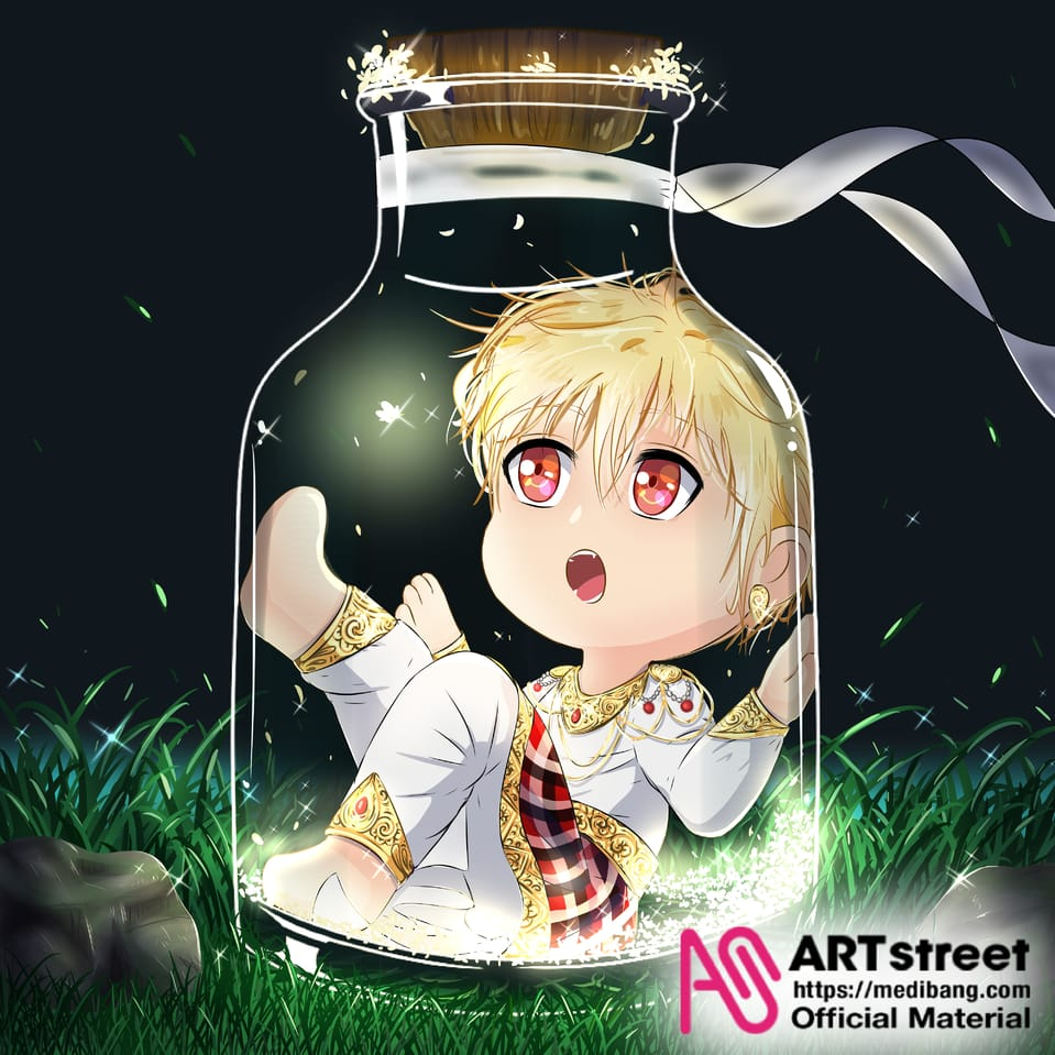 Wow a firefly! Illust of Ladekpoh tracedrawing4th Trace&Draw【Official】 boy chibi chibiboy night cute firefly