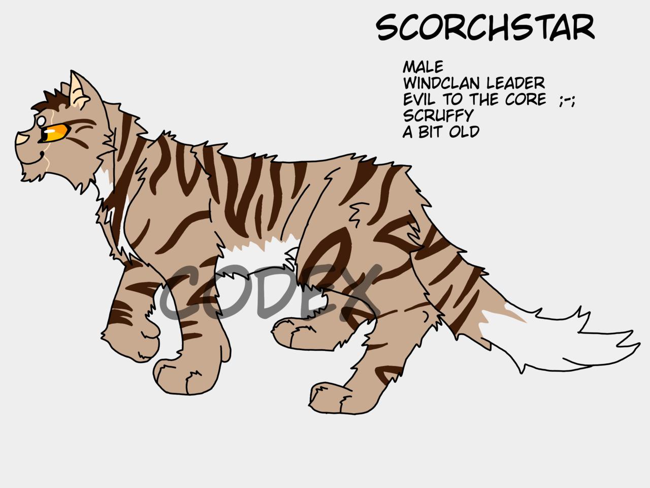 WindClan leader 👌 Illust of HeadHonchoCodex medibangpaint HeadHonchoCodex cat villain warriorcats oc dark Emo Warriors furry