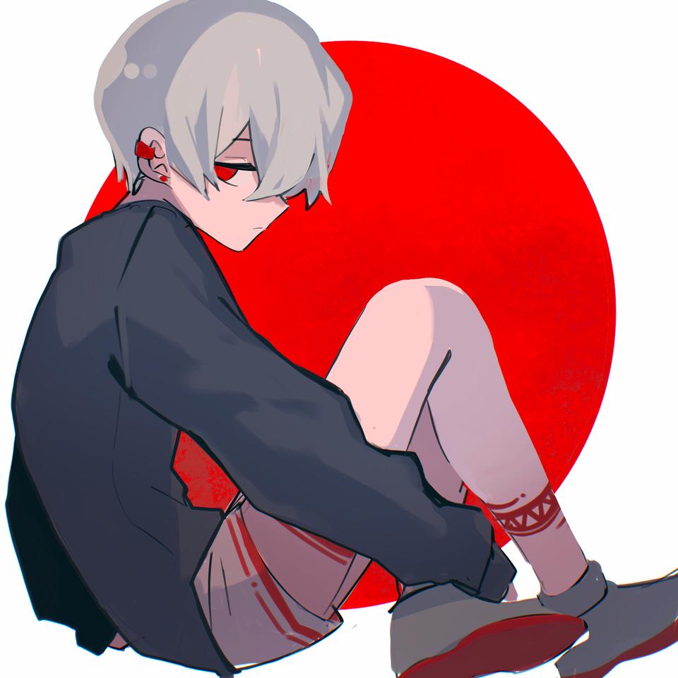 少年 Illust of 吉草 レッツワンドロ medibangpaint boy 赤目