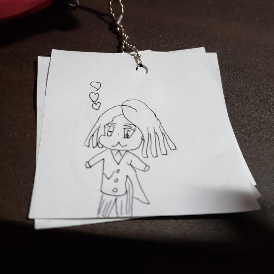 魘夢 キーホルダー 手描き Illust of natsu 魘夢 KimetsunoYaiba 無限列車 手作り