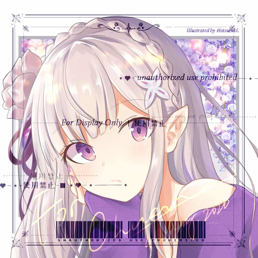 A Series of Profile Icon Illust of はつづき 阿武隈 時雨 艾米莉亚 夕立