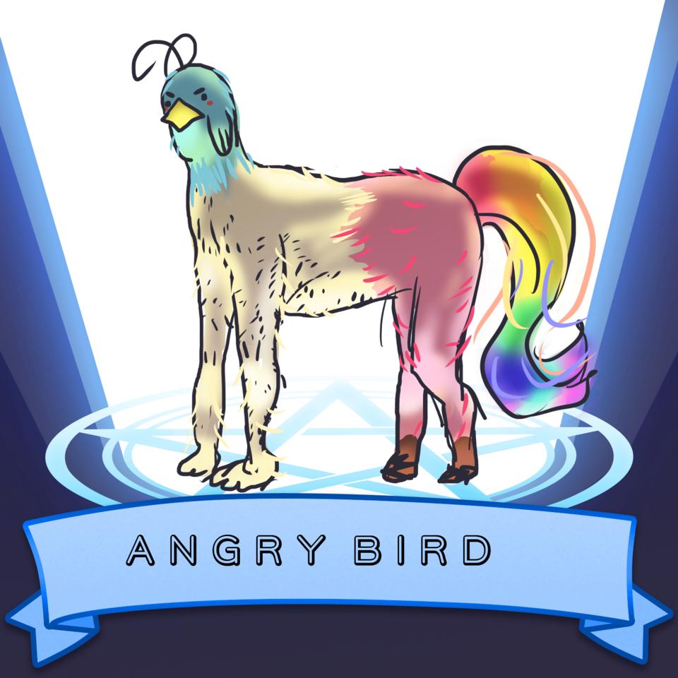 I summoned a bird Illust of AwkwardTobi SoBadItsGood AwkwardTobi birds angry