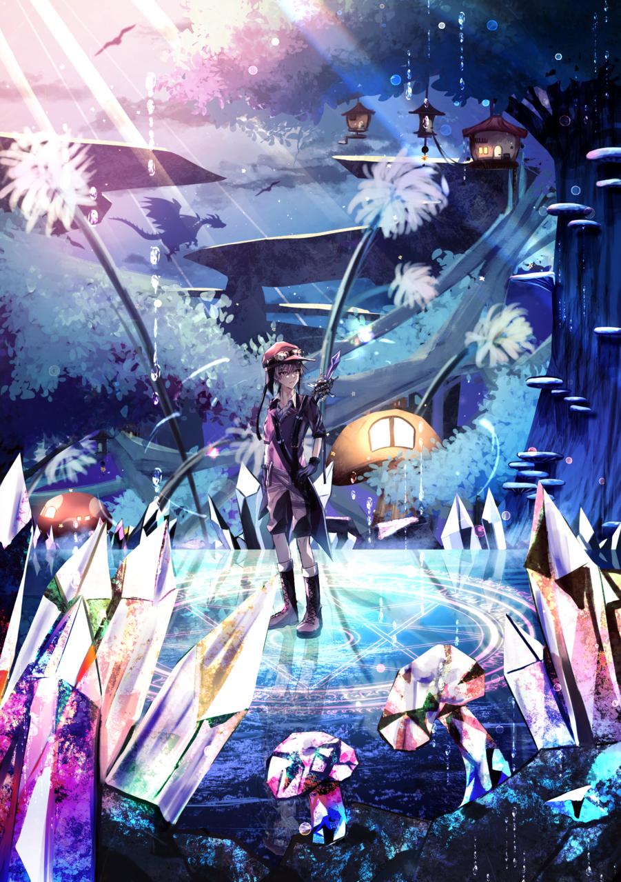 探索 Illust of 八瀬 February2021_Fantasy original blue boy illustration oc