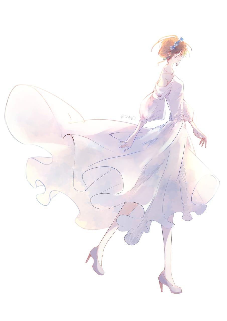 Illust of 花鳥 女の子イラスト original ワンピース(服)