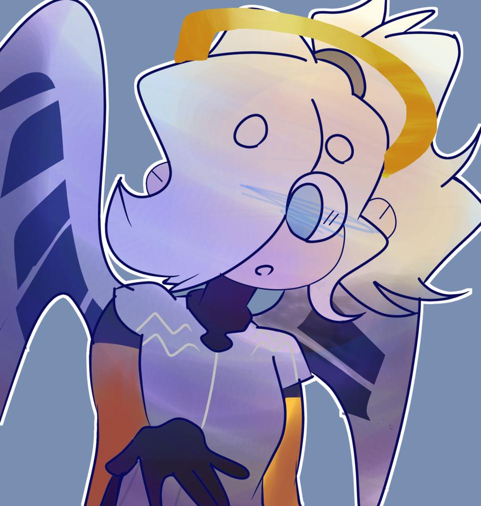 Mercy doodle (Overwatch