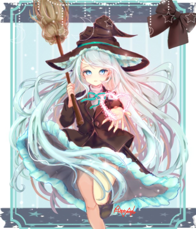 A witch girl
