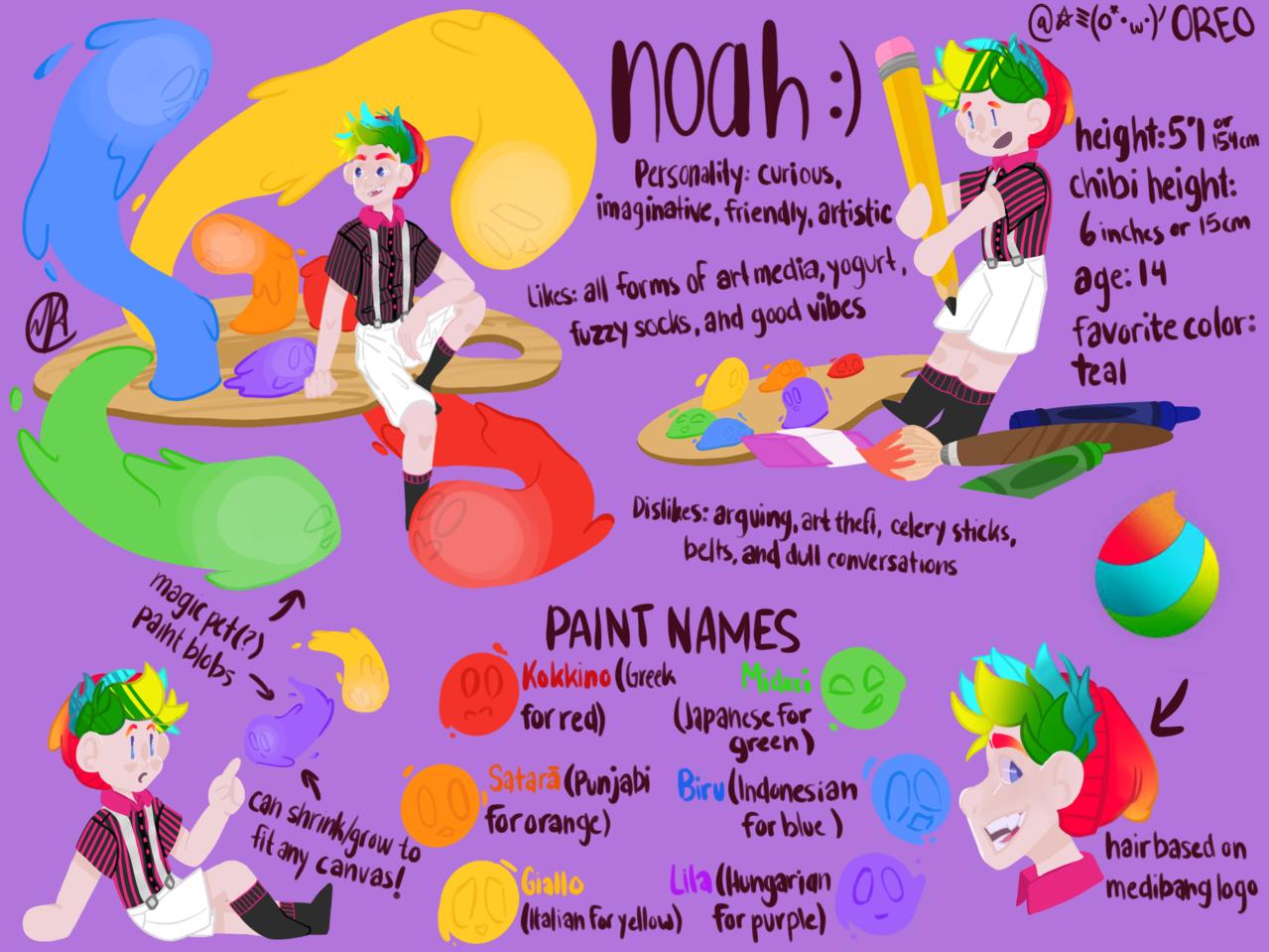 My OC Noah (for character design comp)