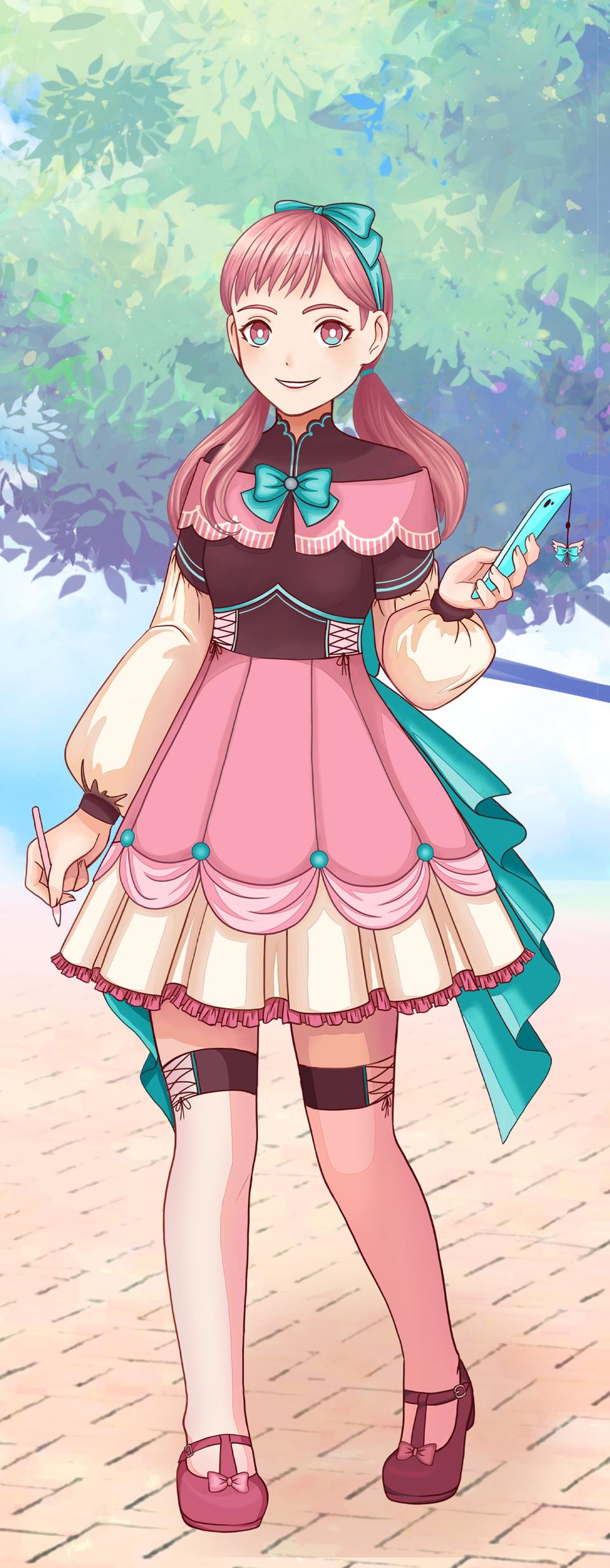 Pastel Sketch Pink Character Illust of Shurmmi & Izni PASTEL_SKETCH2020 pastel