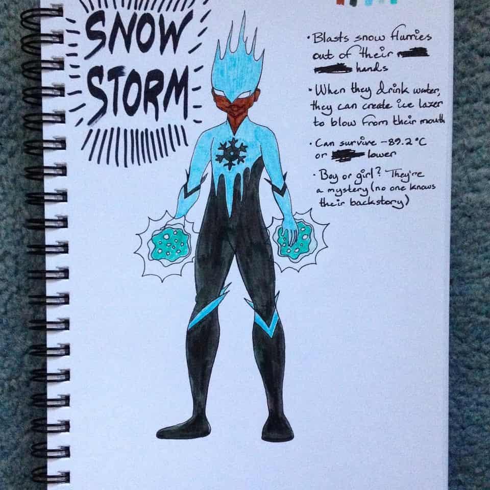 Snowflake Redesign Illust of Rue Lee Marvel drawing snowstorm markers marvelcomics characterdesign newwarriors snowflake Redesign
