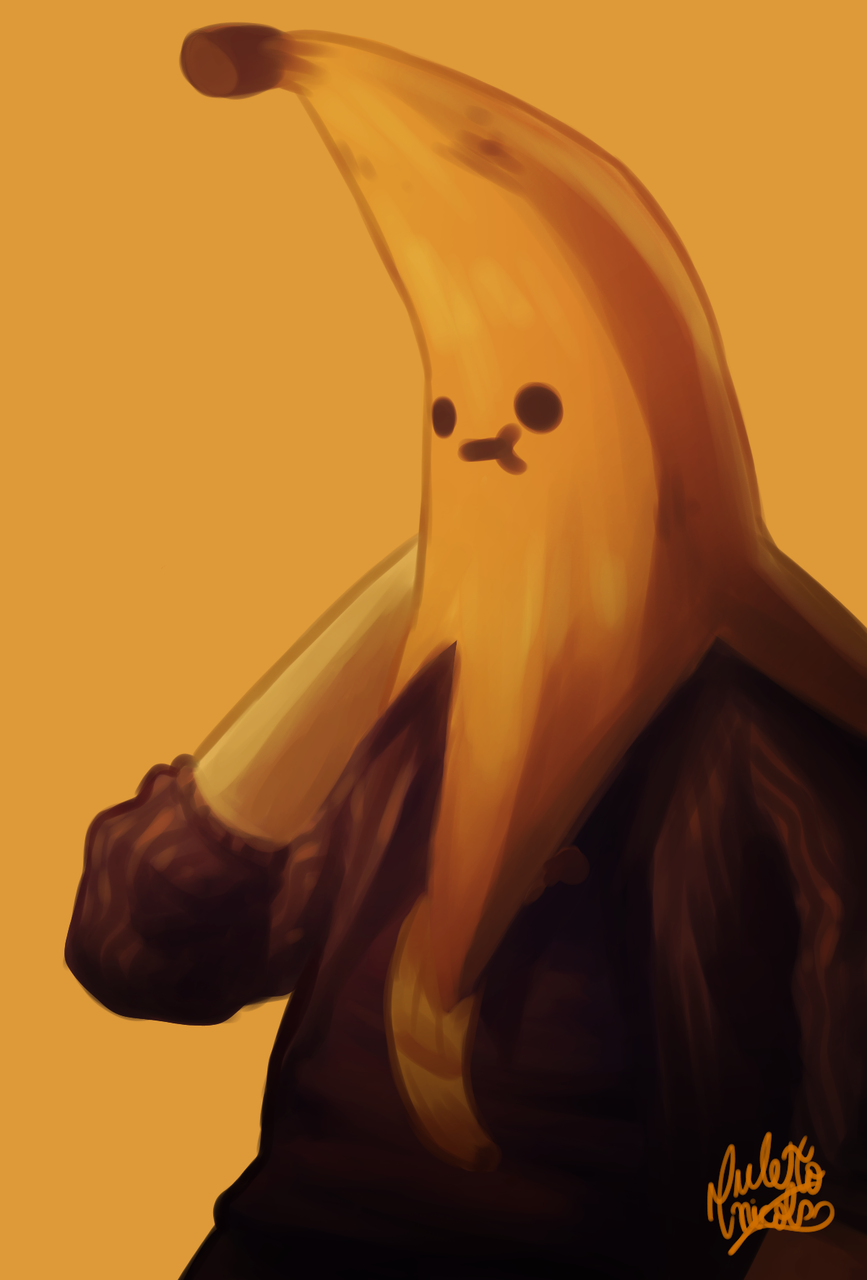 Banana Manolo Illust of Anawello January2021_Contest:OC medibangpaint バナナ