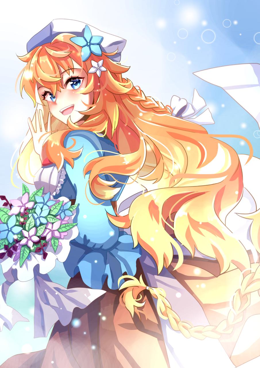 Otogibara Era Illust of Akira Luca illustration 御伽原江良 girl virtual_YouTuber longhair cute fanart にじさんじ lighting digital