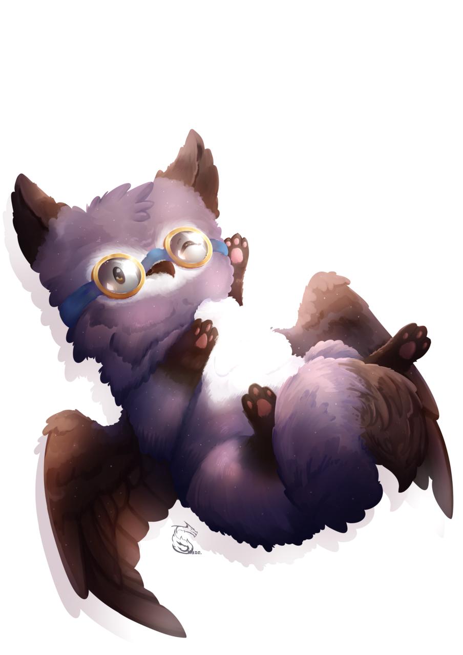 [AT] Fox/Owl Illust of Kazecoo fantasy Artwork Adorable Medibang