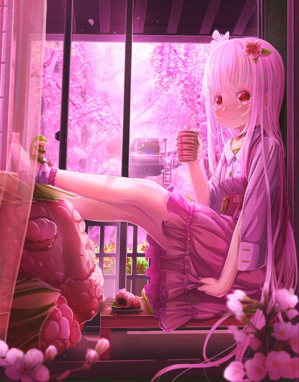 桜の匂う茶室へようこそ。 Illust of あいうあぼ Frog girl sakura