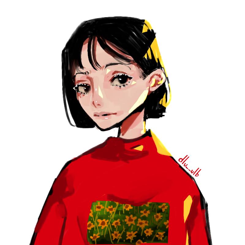 Girassóis Illust of dlu__ulb medibangpaint anime girl eyes cute doodle