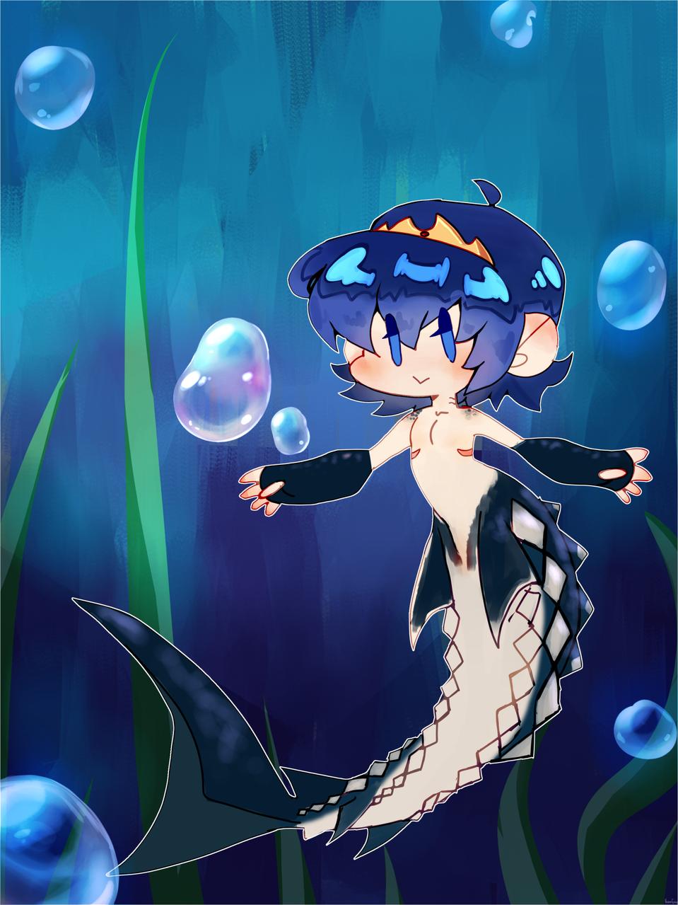 Mermarth Illust of 新芽 medibangpaint anime mermaid FireEmblem cute SuperSmashBros.