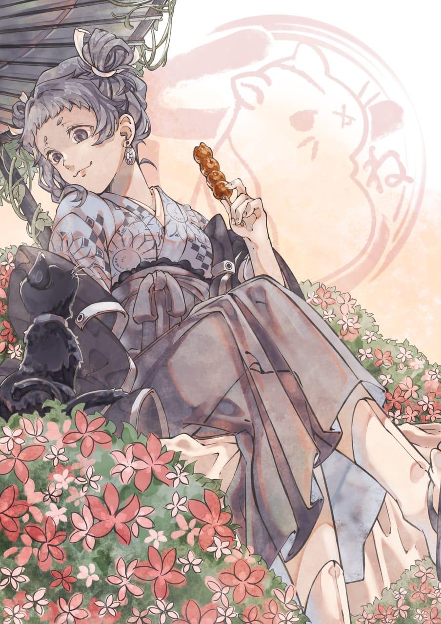 鳩羽鼠-hatobanezumi- Illust of 冬白くれ January2021_Contest:OC