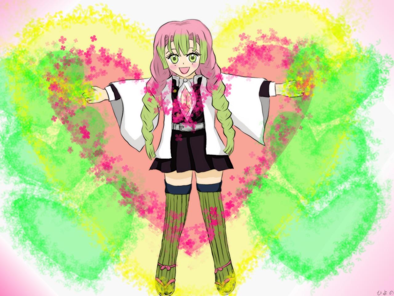 恋柱 Illust of ひよの DemonSlayerFanartContest KanrojiMitsuri ハート KimetsunoYaiba