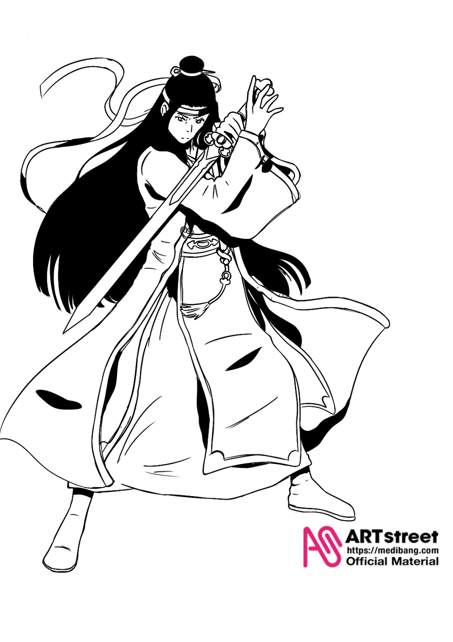 Dibujo para el concurso Illust of JinJin tracedrawing Trace&Draw【Official】