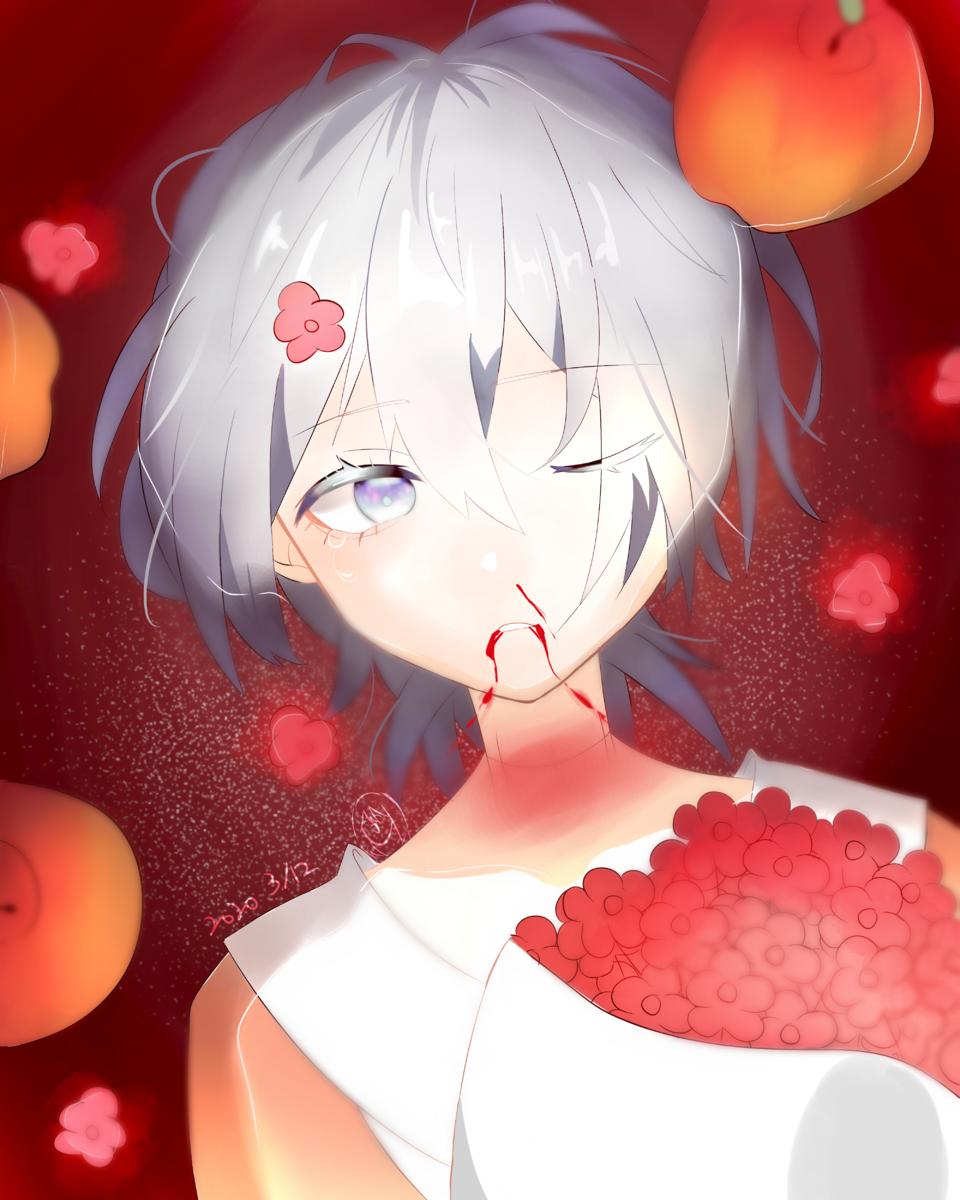 蘋果(? Illust of ( ・᷄ὢ・᷅ )