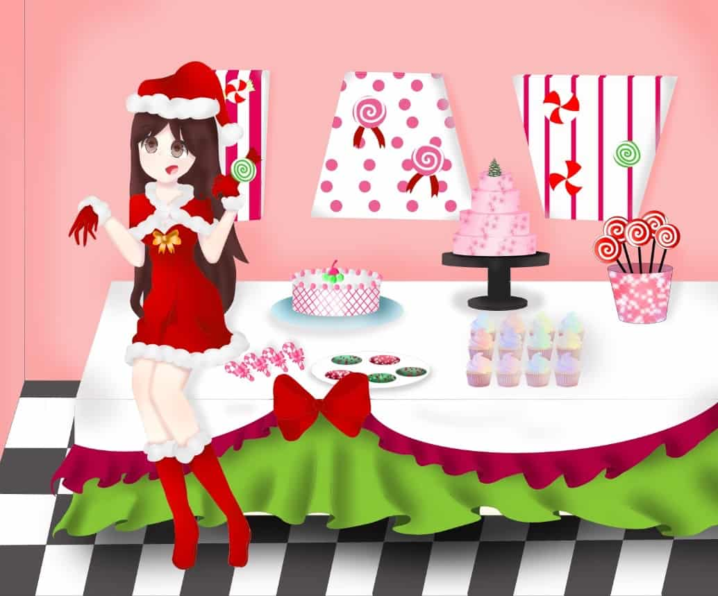 Antes/Despues Illust of Minswee Post_Multiple_Images_Contest navidad animegirl despues concurso Drawings comparacion imagenes antes