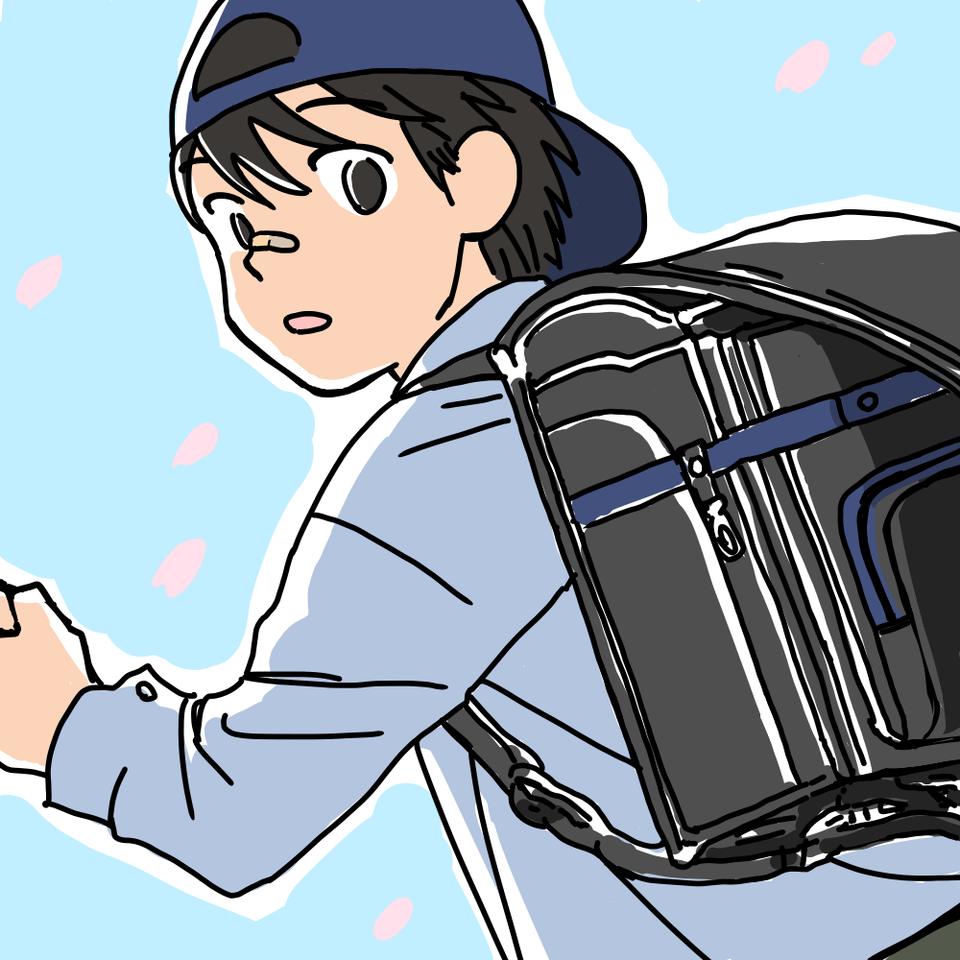 新学期 Illust of 大森喜悦 レッツワンドロ ランドセル boy
