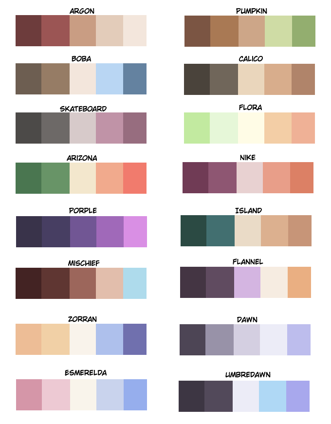 some color palettes