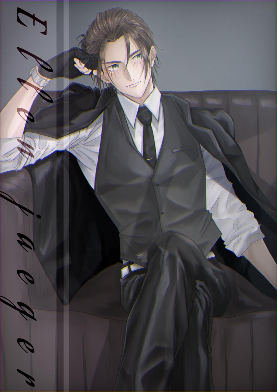 エレン Illust of メル anime ErenYeager illustration boy かっこいい character art handsome digital AttackonTitan