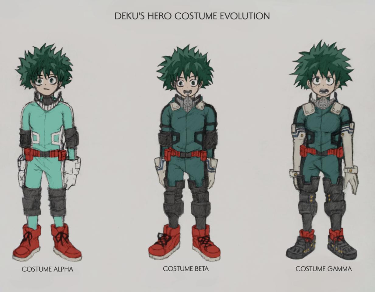 Deku S Hero Costume Evolution Iyann Illustrations Art