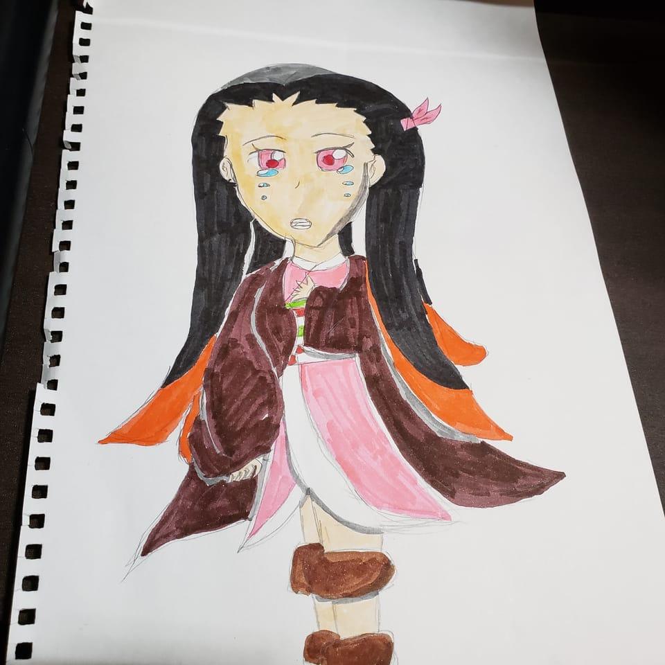 禰豆子 手描き Illust of natsu KamadoNezuko handdrawn KimetsunoYaiba