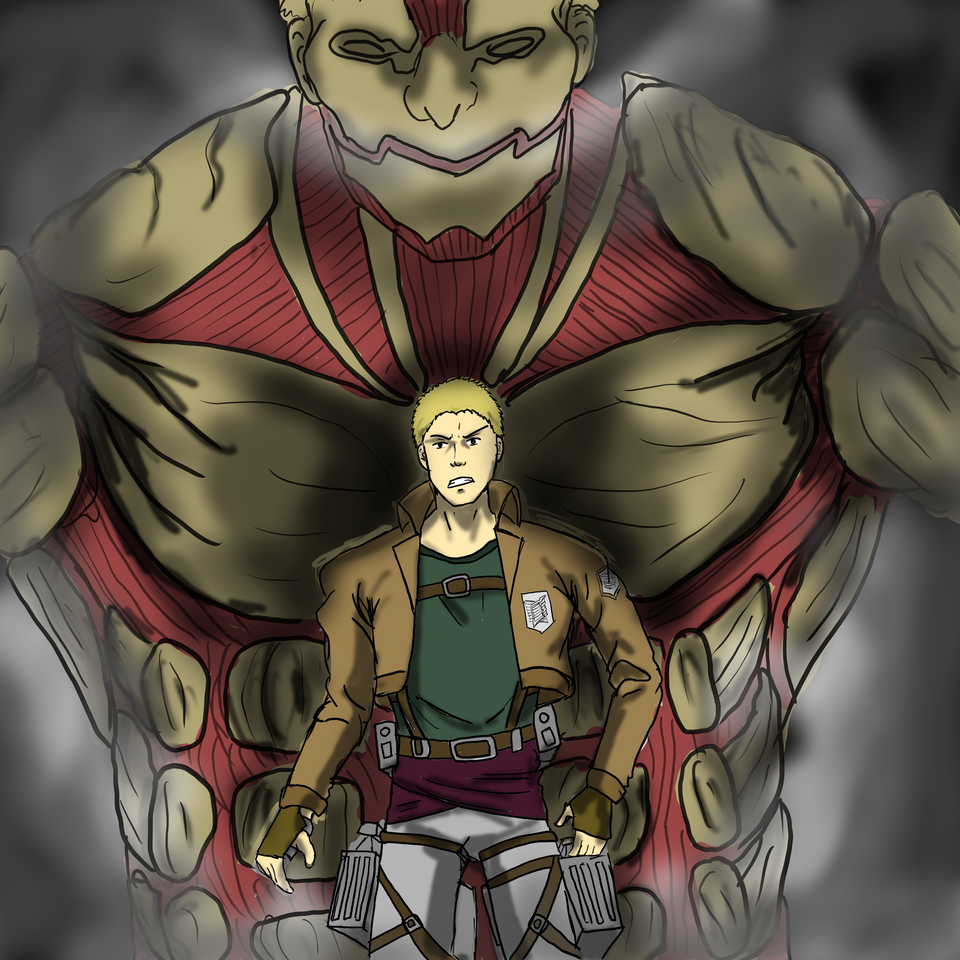 Reiner Illust of Ash anime fanart medibangpaint manga attackontitanfanart AttackonTitan art ReinerBraun